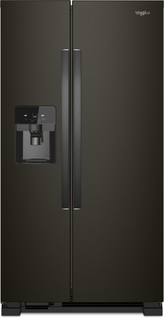 Whirlpool® 25 Cu. Ft. Side-by-Side Refrigerator-Fingerprint Resistant Black Stainless-WRS555SIHV