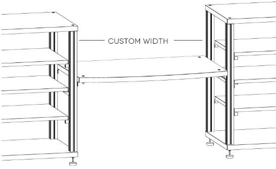 Salamander Designs® Synergy Custom-Cut Bridge Dark Cherry AV Cabinet Accessory-SBX/C
