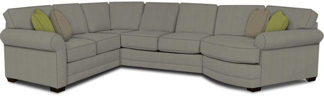 England Furniture Co. Brantley 4 Piece Culpepper Cement/Alvarado Mineral/Jovan Earth Sectional-5630-28-22-43-95+8612+8283+8601