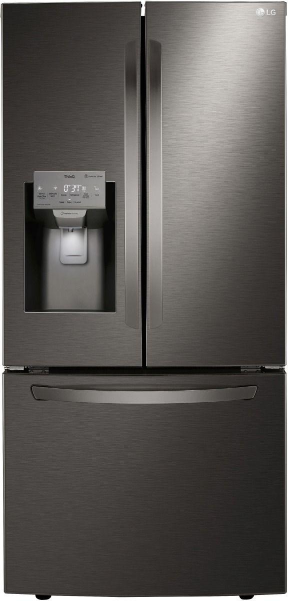 LG 24.50 Cu. Ft. PrintProof™ Black Stainless Steel French Door Refrigerator-LRFXS2503D