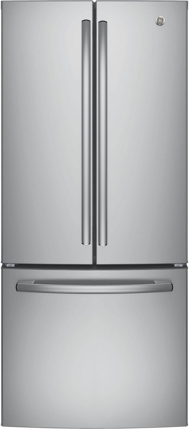 GE® Series 20.8 Cu. Ft. French Door Refrigerator-Stainless Steel-GNE21FSKSS