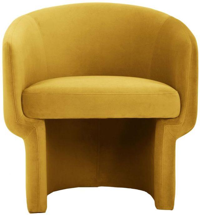 Fauteuil Franco en tissu jaune Moe's Home Collections®-JM-1005-09