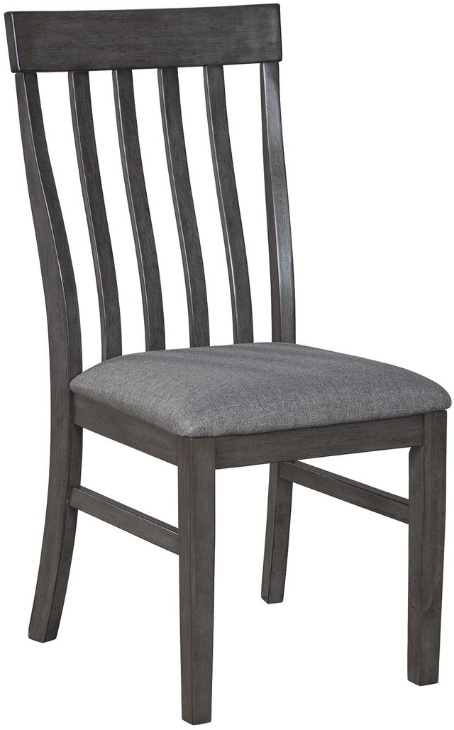 Benchcraft® Luvoni Dark Charcoal Gray Upholstered Chair-D464-01
