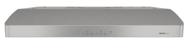 Hotte de cuisinière sous-armoire Broan® de 30 po - Acier inoxydable-ERLE130SS