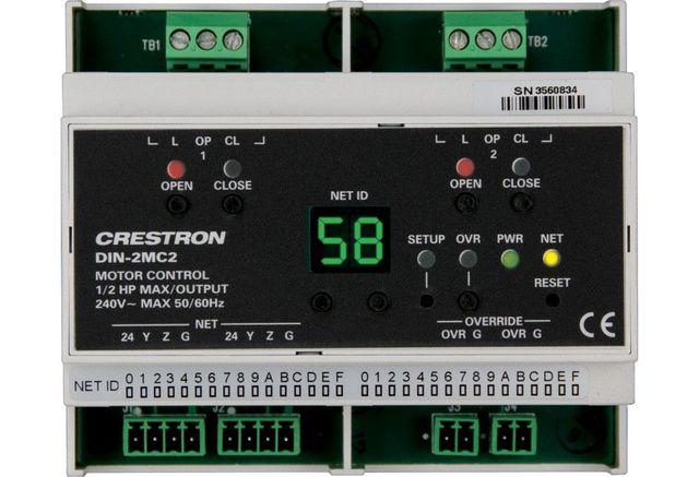 Crestron® DIN Rail Motor Control-DIN-2MC2