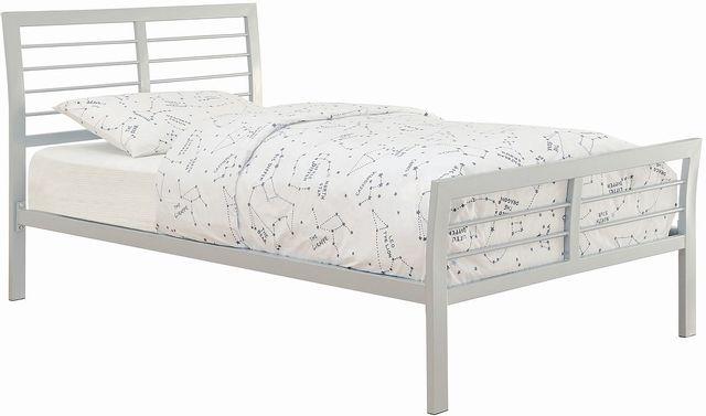 Coaster® Cooper Silver Queen Metal Bed-300201Q