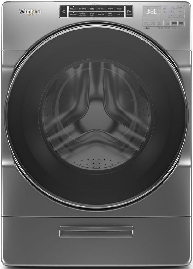 Whirlpool® 4.3 Cu. Ft. Chrome Shadow Front Load Washer-WFW862CHC