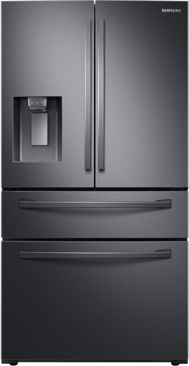 Samsung 28 Cu. Ft. Fingerprint Resistant Black Stainless Steel French Door Refrigerator-RF28R7201SG