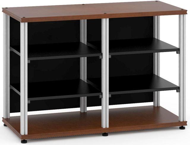 Salamander Designs® Synergy Twin 30 AV Cabinet-Dark Cherry/Aluminum-SN30C/A