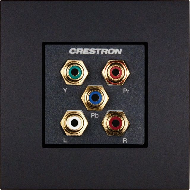 Crestron® Media Presentation International Version Wall Plate-Anthracite-MPI-WP120-122