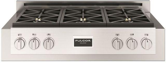 "Fulgor Milano® Sofia 600 Series 36"" Pro Style Gas Rangetop-Stainless Steel-F6GRT366S1"