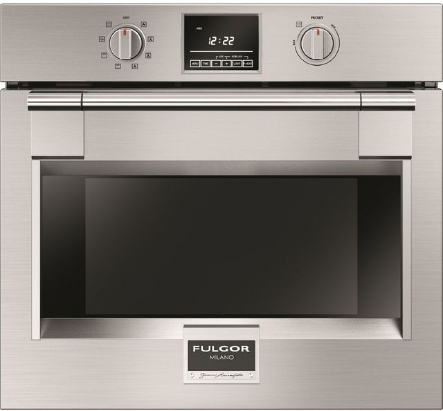 """Fulgor® Milano 600 Series PRO 30"""" Single Electric Wall Oven-Stainless Steel-F6PSP30S1"""