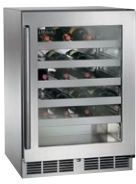 """Perlick Signature Series 24"""" Wine Reserve-Stainless Steel/Glass-HP24WS-3L"""