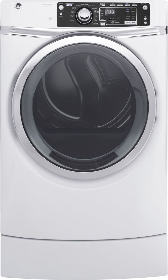 GE® Front Load Electric Dryer-White-GFD49ERSKWW