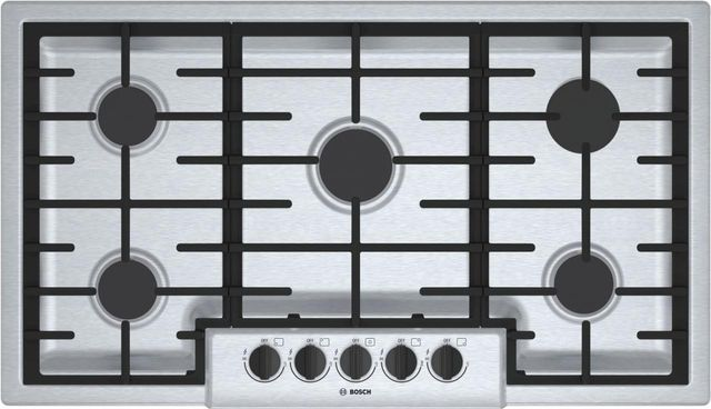 """Bosch 500 Series 36"""" Gas Cooktop-Stainless Steel-NGM5656UC"""