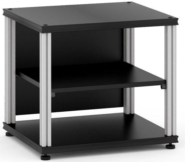 Salamander Designs® Synergy Single 20 AV Cabinet-Black/Aluminum-SU20B/A