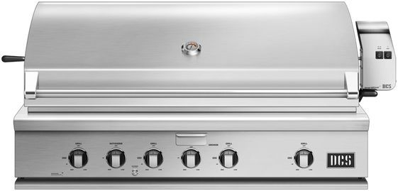 """DCS Series 7 47.88"""" Brushed Stainless Steel Traditional Built In Grill-BH1-48R-L"""