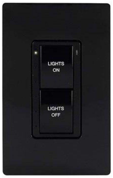 Crestron® Cameo® Black Textured infiNet EX® 120V Wireless Keypad-INET-CBDEX-P-B-T