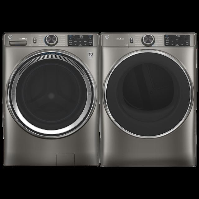 GE® Satin Nickel Laundry Pair-GELAUGFD65GSPNSN