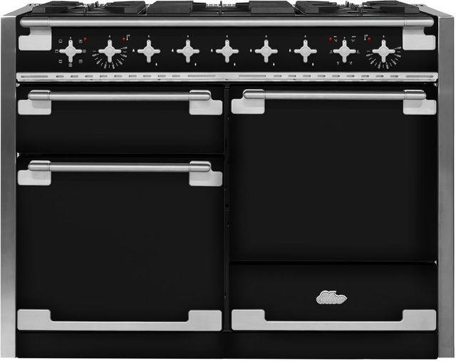 "AGA Elise 48"" Gloss Black Dual Fuel Range-AEL48DF-BLK"