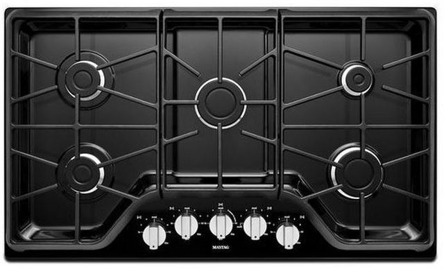 """Maytag® 36"""" Gas Cooktop-Black-MGC7536DE"""