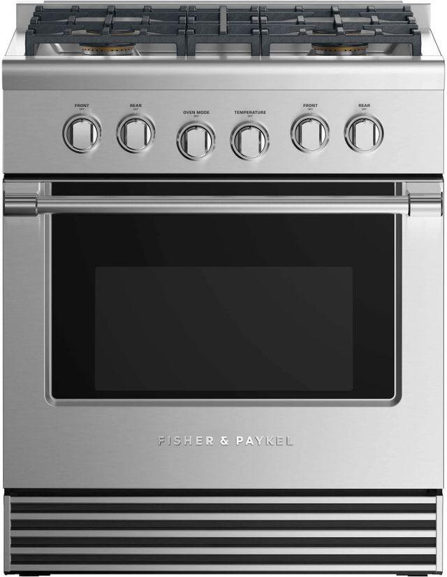 "Fisher & Paykel 30"" Pro Style Gas Range-Stainless Steel-RGV2-304N N"