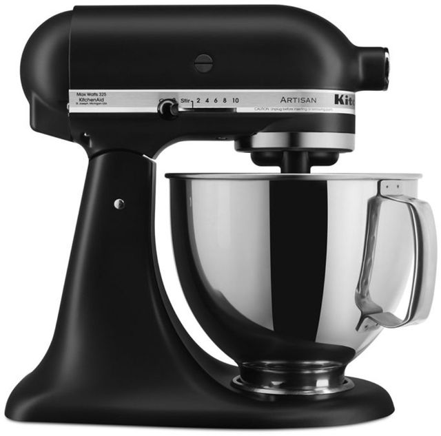 KitchenAid® Artisan® Series 5 Quart Black Matte Stand Mixer-KSM150PSBM