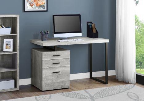 Bureau d'ordinateur, gris, Monarch Specialties®-I 7409