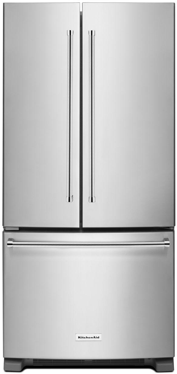 KitchenAid® 22.11 Cu. Ft. Stainless Steel French Door Refrigerator-KRFF302ESS