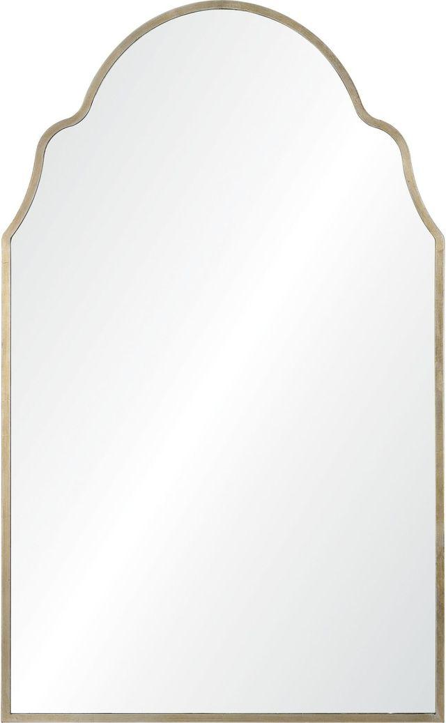 Miroir mural Natasha, feuille d'argent antique, Renwil®-MT2364
