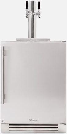 """True® 24"""" Stainless Steel Beer Cooler/Kegerator-TUR-24DD-R-SS-B"""