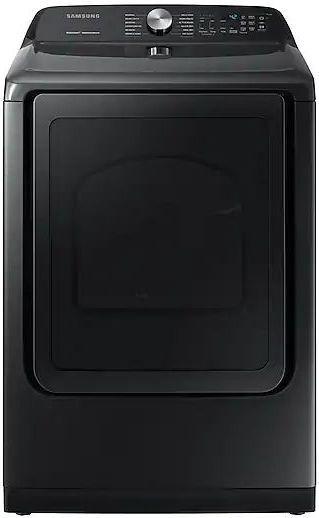 Samsung 7.4 Cu. Ft. Fingerprint Resistant Black Stainless Steel Front Load Gas Dryer-DVG50R5400V