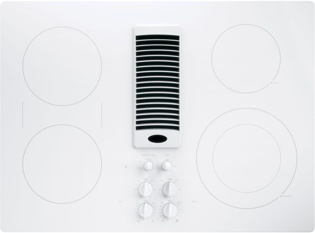 """GE Profile™ Series 30"""" White Electric Cooktop-PP9830TJWW"""