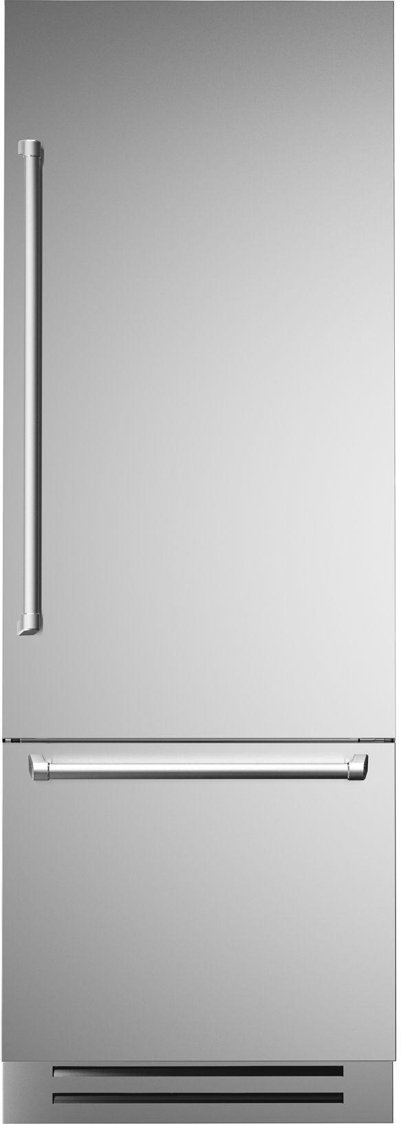 Réfrigérateur à congélateur inférieur de 30 po Bertazzoni® de 14,0 pi³ - Acier inoxydable-REF30PIXR