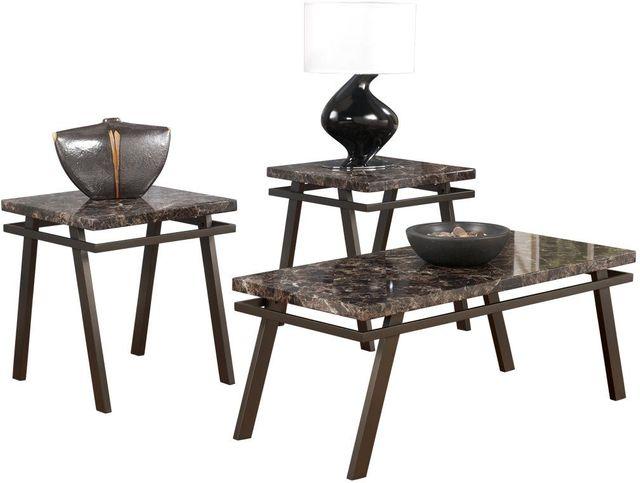 Signature Design by Ashley® Paintsville Bronze 3 Piece Occasional Table Set-T126-13