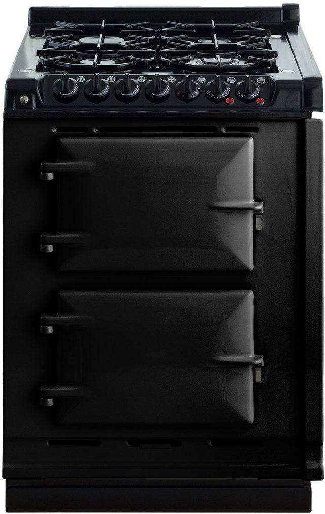 """AGA 24"""" Black Integrated Dual Fuel Range-TCDCLPM-BLK"""