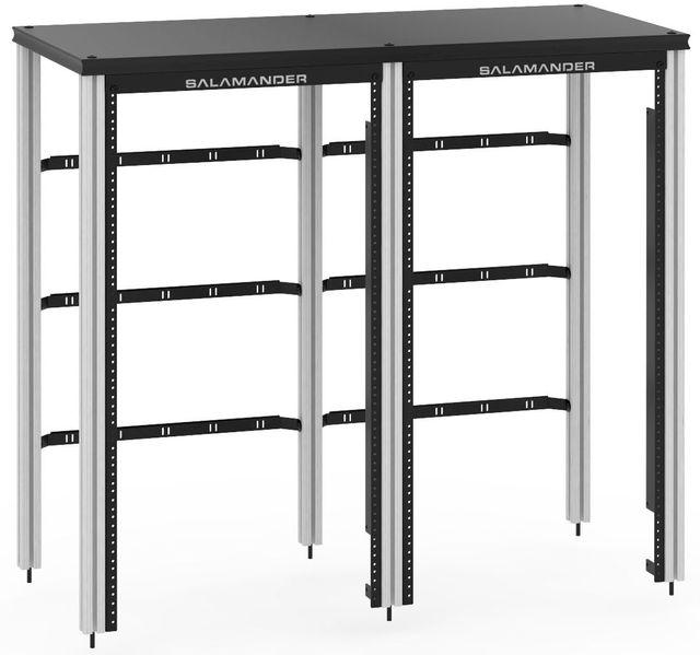 Salamander Designs® Synergy 40 Extension Rack Mount-Black/Aluminum-SNX40RMB/A