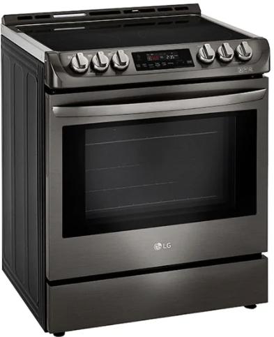 Cuisinière électrique encastrée LG® de 6,3 pi³ de 30 po - Acier inoxydable noir-LSE4611BD