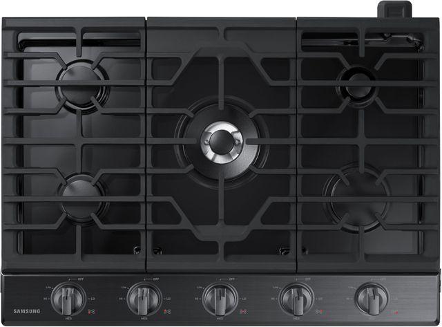 """Samsung 30"""" Gas Cooktop-Fingerprint Resistant Black Stainless Steel-NA30N6555TG"""