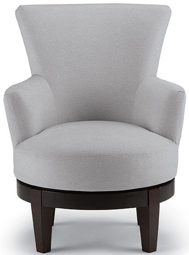Best Home Furnishings Justine Espresso Swivel Chair-2968E