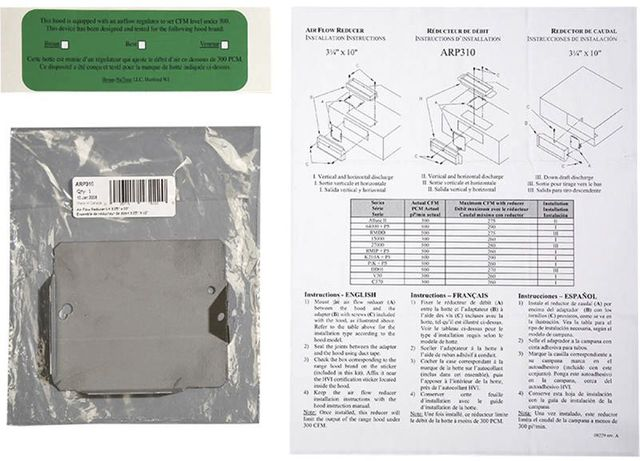 Amortisseur de conduit d'air Broan®-ARP310
