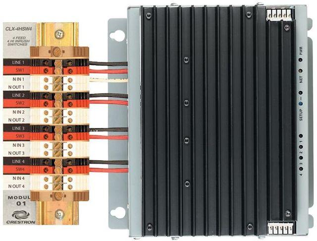 Crestron® 4 Channel High-Inrush Switch Module-GL-CAEN-4HSW4 KIT