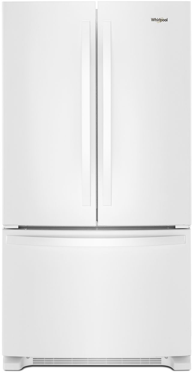 Whirlpool® 22 Cu. Ft. Wide French Door Refrigerator-White-WRF532SMHW
