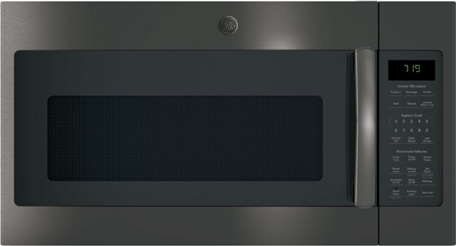 GE® Over The Range Microwave Oven-Black Stainless-JVM7195BLTS