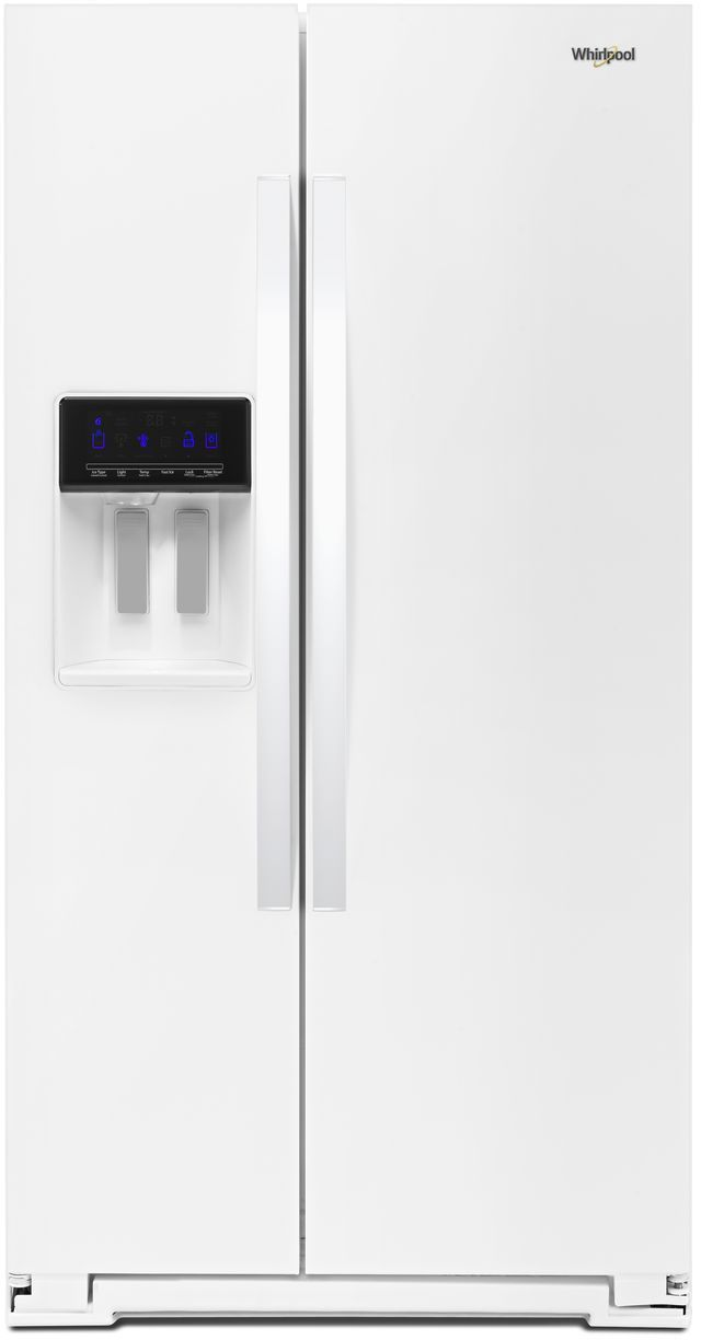 Whirlpool® 28.49 Cu. Ft. Side-by-Side Refrigerator-White-WRS588FIHW