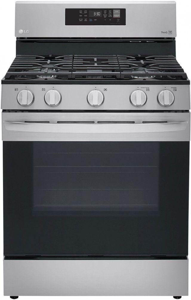 Cuisinière au gaz autoportante de 5,8 pi³ LG® de 30 po - Acier inoxydable-LRGL5823S