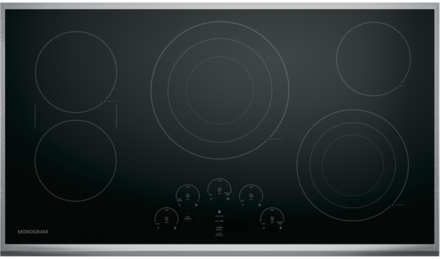 """Monogram® 36"""" Touch Control Electric Cooktop-Stainless Steel-ZEU36RSJSS"""