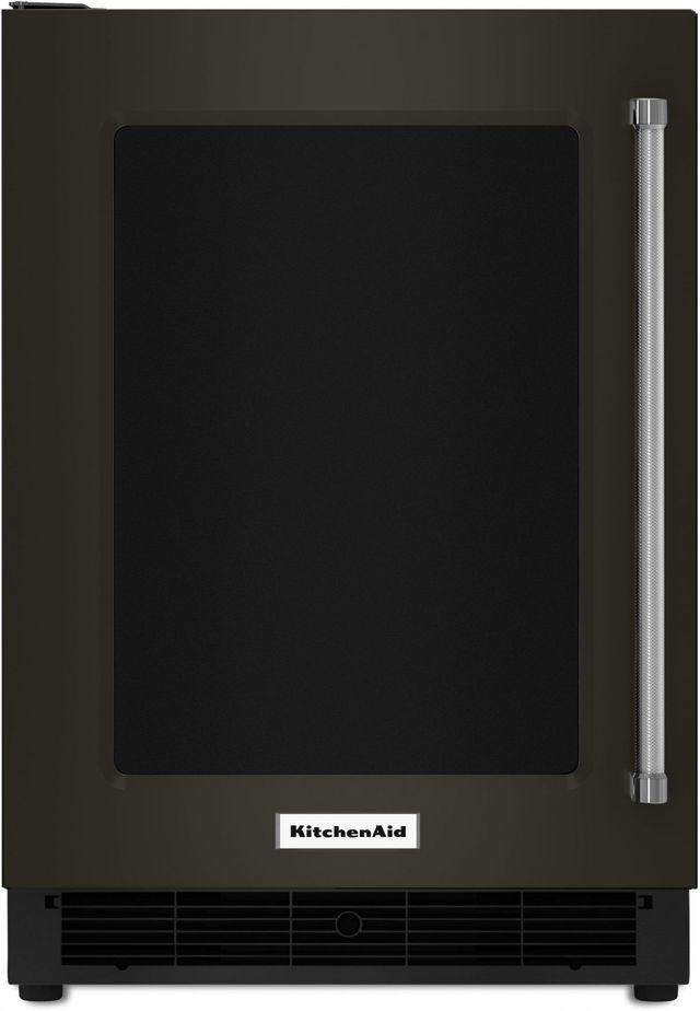 KitchenAid® 5.1 Cu. Ft. Black Stainless Steel with PrintShield™ Finish Under The Counter Refrigerator-KURL304EBS