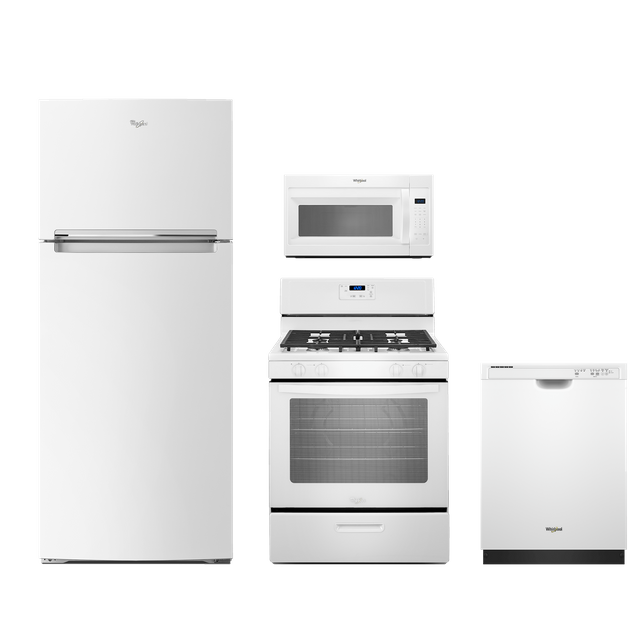 Whirlpool® 4 Piece Kitchen Package-White-WHKITWFG320M0BW