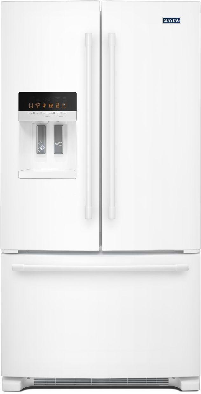 Maytag® 24.70 Cu. Ft. White French Door Refrigerator-MFI2570FEW